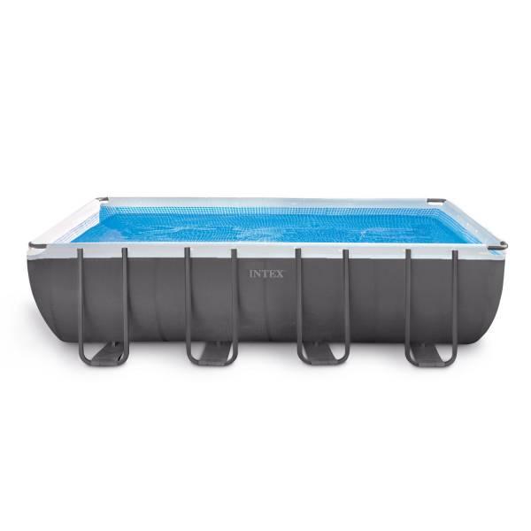 frame pool set ultra quadra 549 x 274 x 132 cm mit sandfilteranlage pool chlor shop. Black Bedroom Furniture Sets. Home Design Ideas
