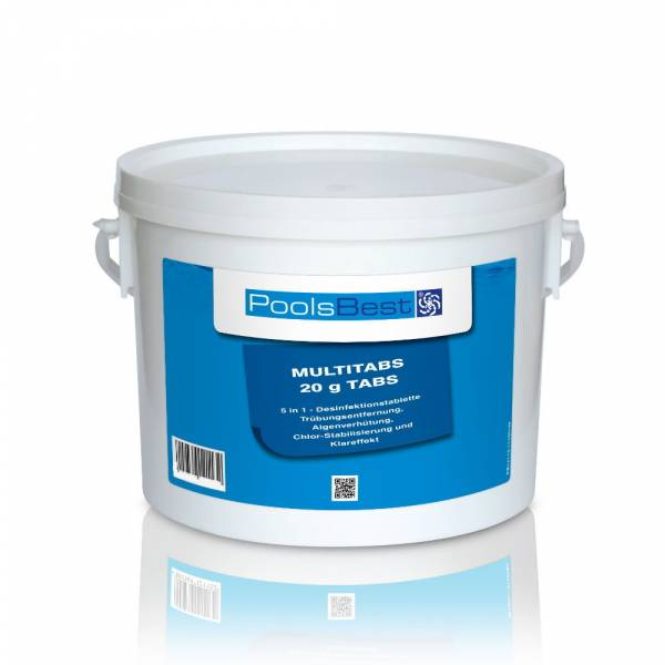 3 Kg - PoolsBest® Mini - Multitabs 5 in 1, 20 g Tabletten