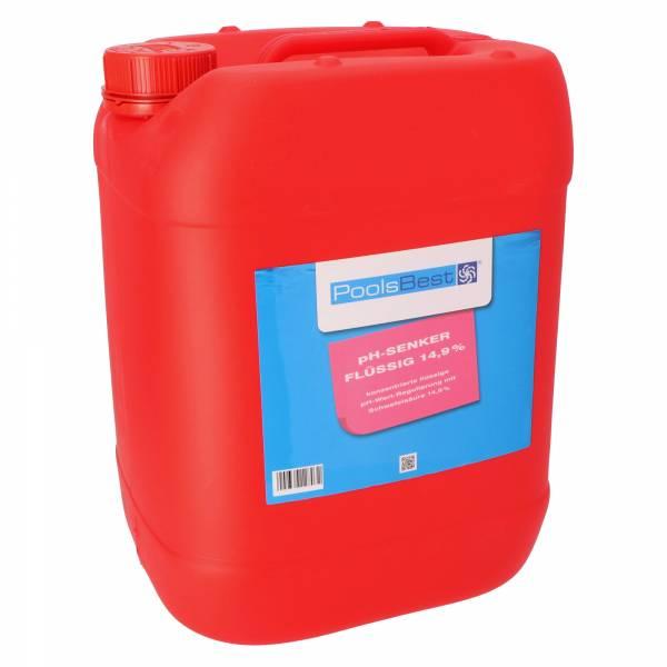 22 Kg - PoolsBest® pH-Senker flüssig 14,9%ig
