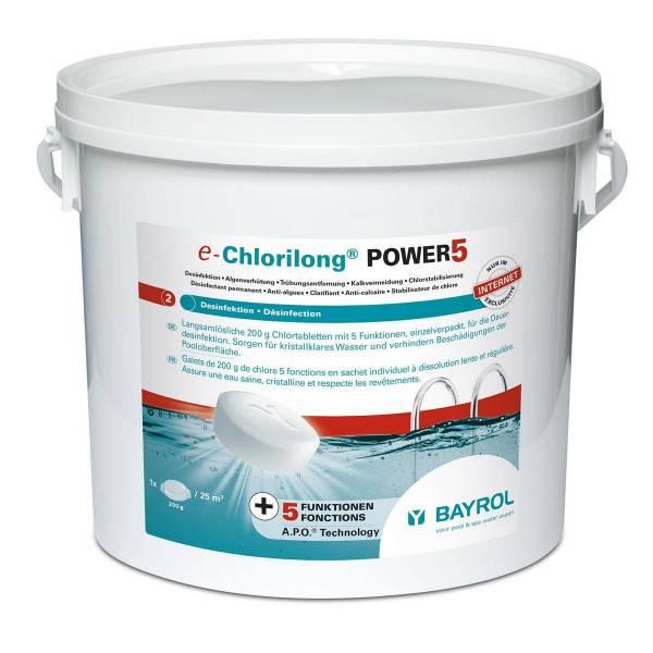 5 kg Bayrol e-Chlorilong® POWER5  200 g Tabletten