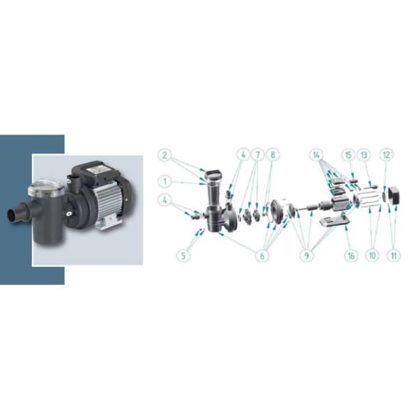 Vorfilterdeckel mit O-Ring für PP8000 + PP10000