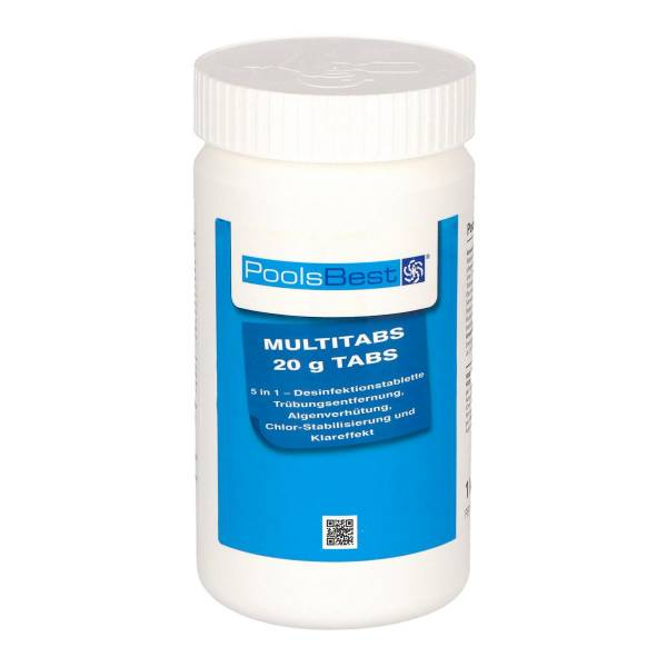 1 Kg - PoolsBest® Mini - Multitabs 5 in 1, 20 g Tabletten