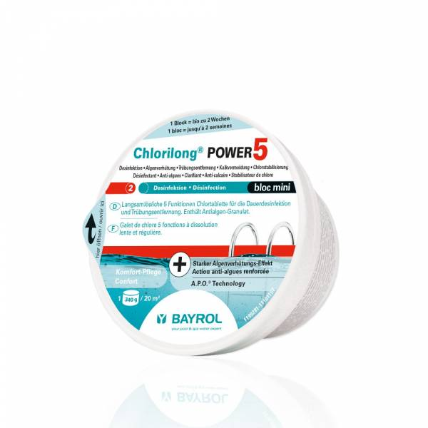 340g Bayrol Chlorilong Power 5 Bloc Mini