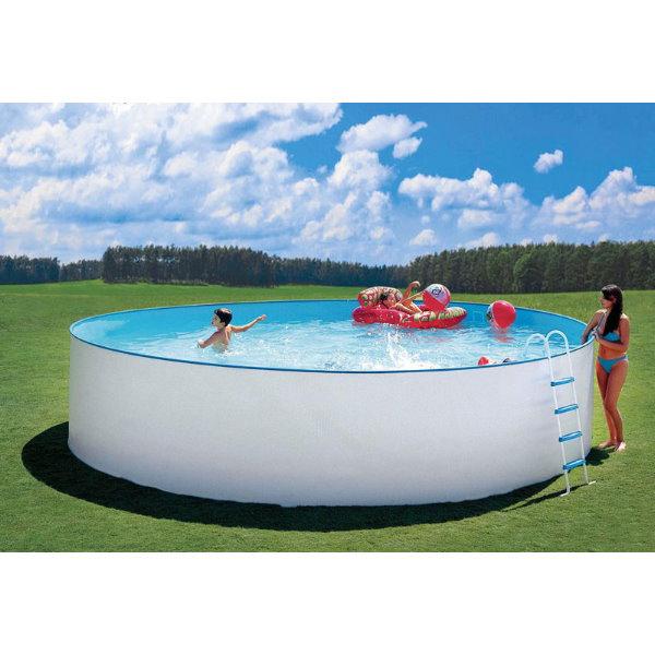 pool beckenset nuovo rund 550 x 120cm mit speed clean comfort 50 pool chlor shop. Black Bedroom Furniture Sets. Home Design Ideas