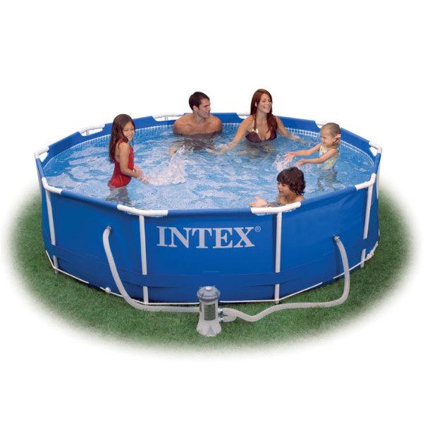 frame pool set prism rondo 366 x 76cm mit pumpe eco pool chlor shop. Black Bedroom Furniture Sets. Home Design Ideas