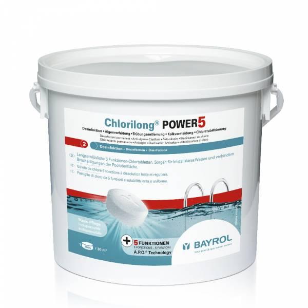 5 Kg Bayrol Chlorilong Power 5 - mit Clorodor Control® Kapsel