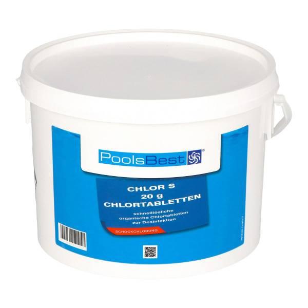 3 Kg - PoolsBest® Chlortabs S 20g - schnelllöslich
