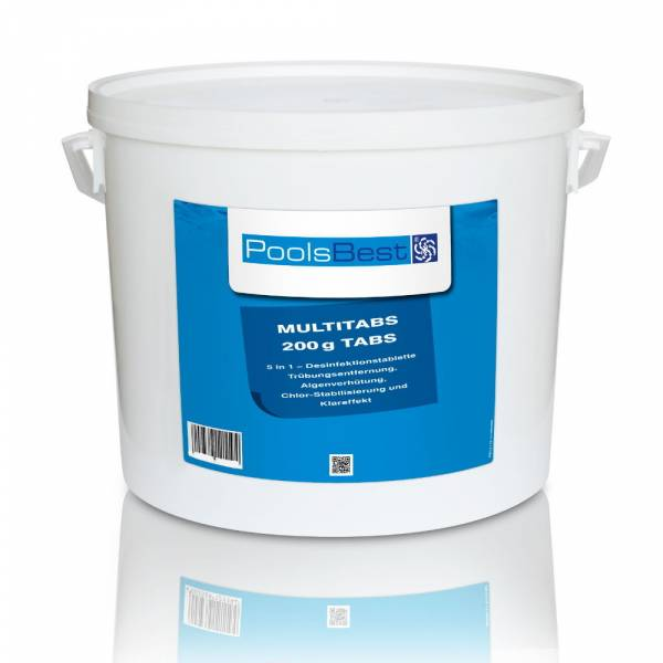 10 Kg - PoolsBest® Chlor Multitabs 5 in 1, 200 g Tabs