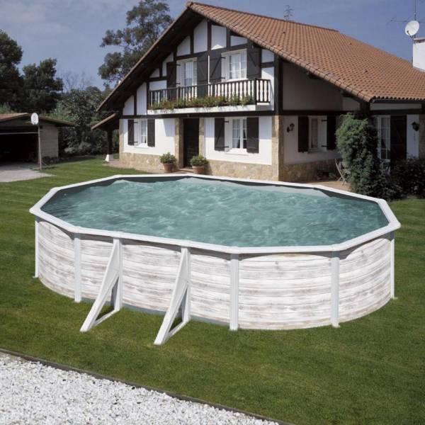 Ovalformbeckenset Nordicoptik 610 x 375 x 120 cm