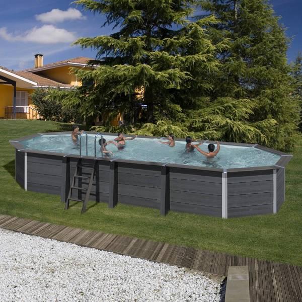 ovalformbeckenset aus composite 804 x 368 x 124 cm pool chlor shop. Black Bedroom Furniture Sets. Home Design Ideas