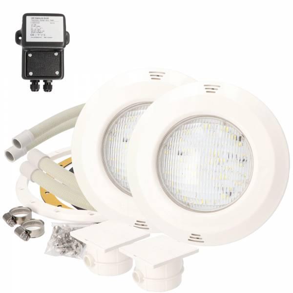 OKU Unterwasserscheinwerfer - 20W LED Kaltweiß - inkl. Sicherheitstrafo - SET 2