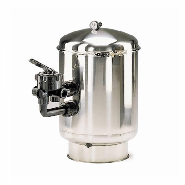 Filterbehälter Astral mit Edelstahl V4A Filter Ø 500mm mit Ventil